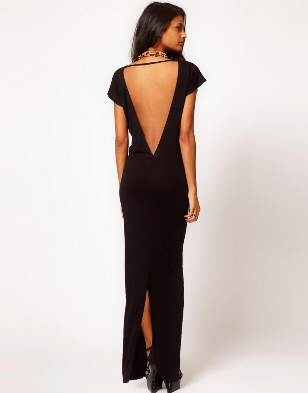 robe longue dos nu comment bien la choisir. Black Bedroom Furniture Sets. Home Design Ideas